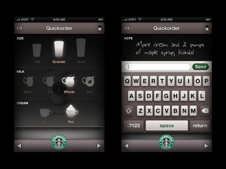 Order your Starbucks by iPhone