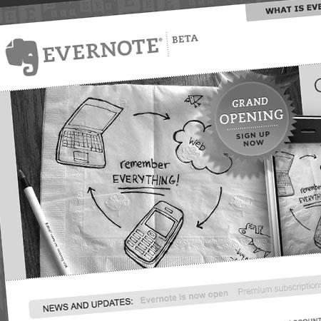 Evernote - an online note keeping system