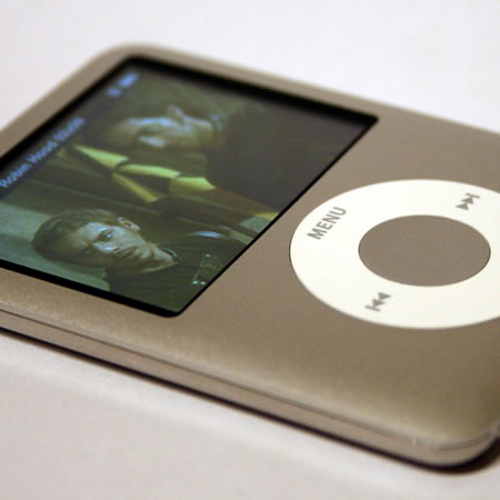 iPod nano on the big screen