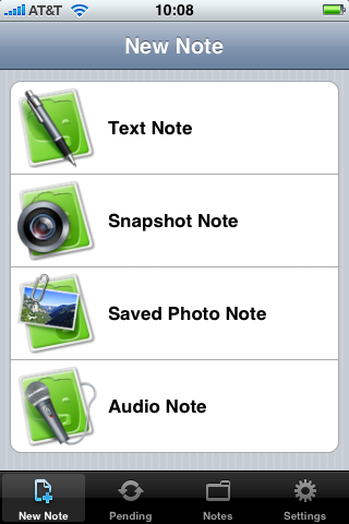 Evernote on the iPhone or the iPod touch