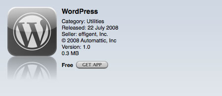 Wordpress App on the iPod touch
