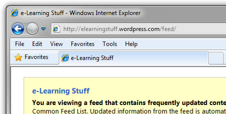 100 ways to use a VLE – #98 Embedding RSS feeds into the VLE | e
